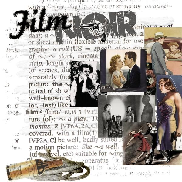 Composition « Film Noir » sur la galerie du Monde du Scrap, 1ère galerie de scrapbooking et de montage photo en France !