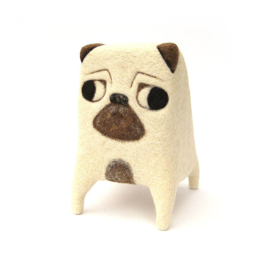 Rupert - Ooak Giant Needlefelted Pug by Poopycakes-makes on DeviantArt
