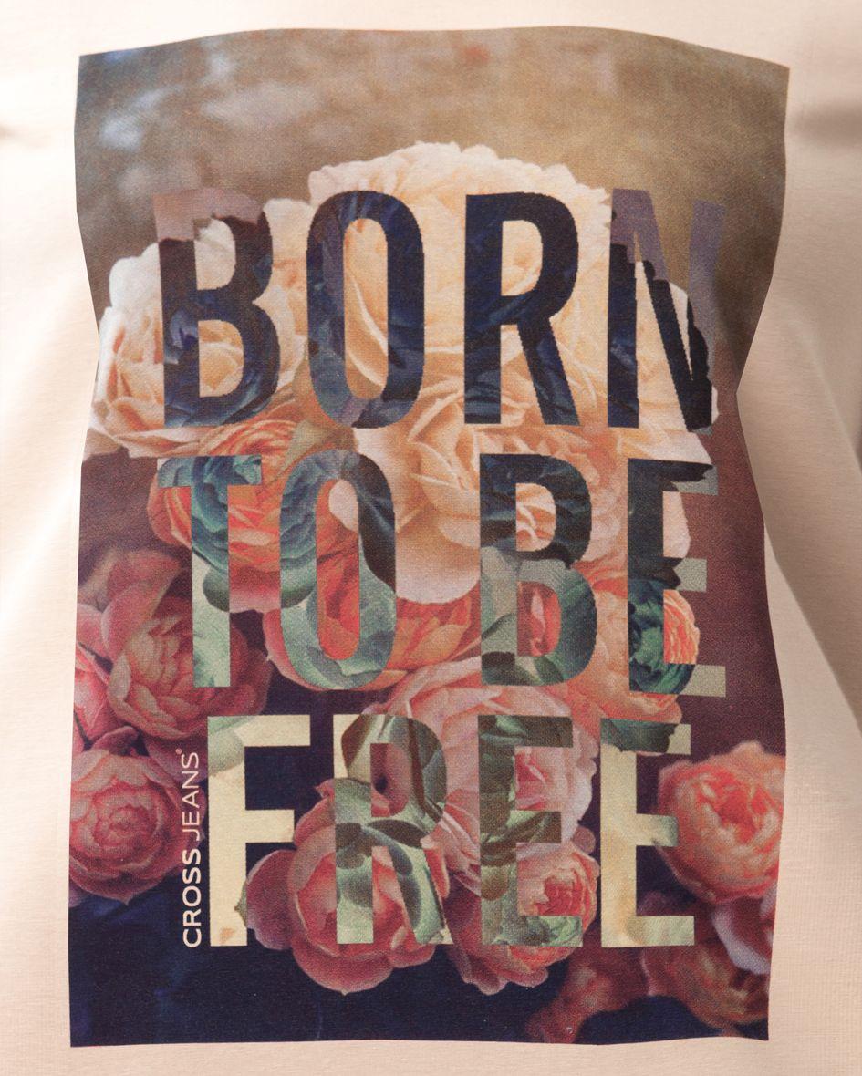 55003 / 15 SS #CrossJeans #t_shirt #print #bohemian