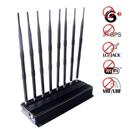 Cell phone jammer ratings , 8 Bands Adjustable Powerful 3G Cellphone Jammer & WiFi GPS VHF UHF Lojack Jammer