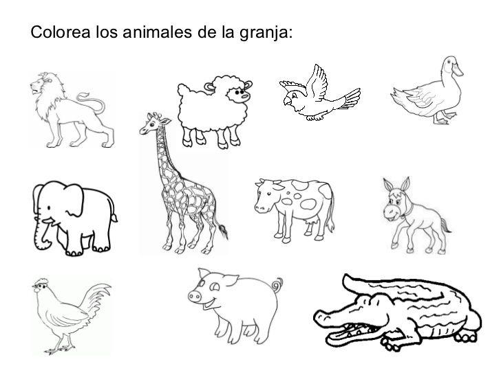animales de la granja para imprimir ejercicios espanol - Szukaj w ...