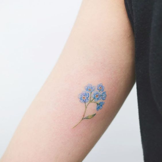 Don't forget me tattoo meaning and the best ideas for inspiration  #diytattooimages - diy best tattoo images