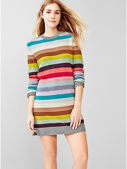 Holiday Stripe Wool Sweater Dress Gap They Have The Cutest Stuff This Year