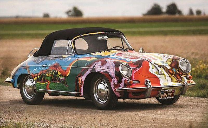 Janis Joplin's psychedelic Porsche set for Amelia Island Concours   ClassicCars.com Journal