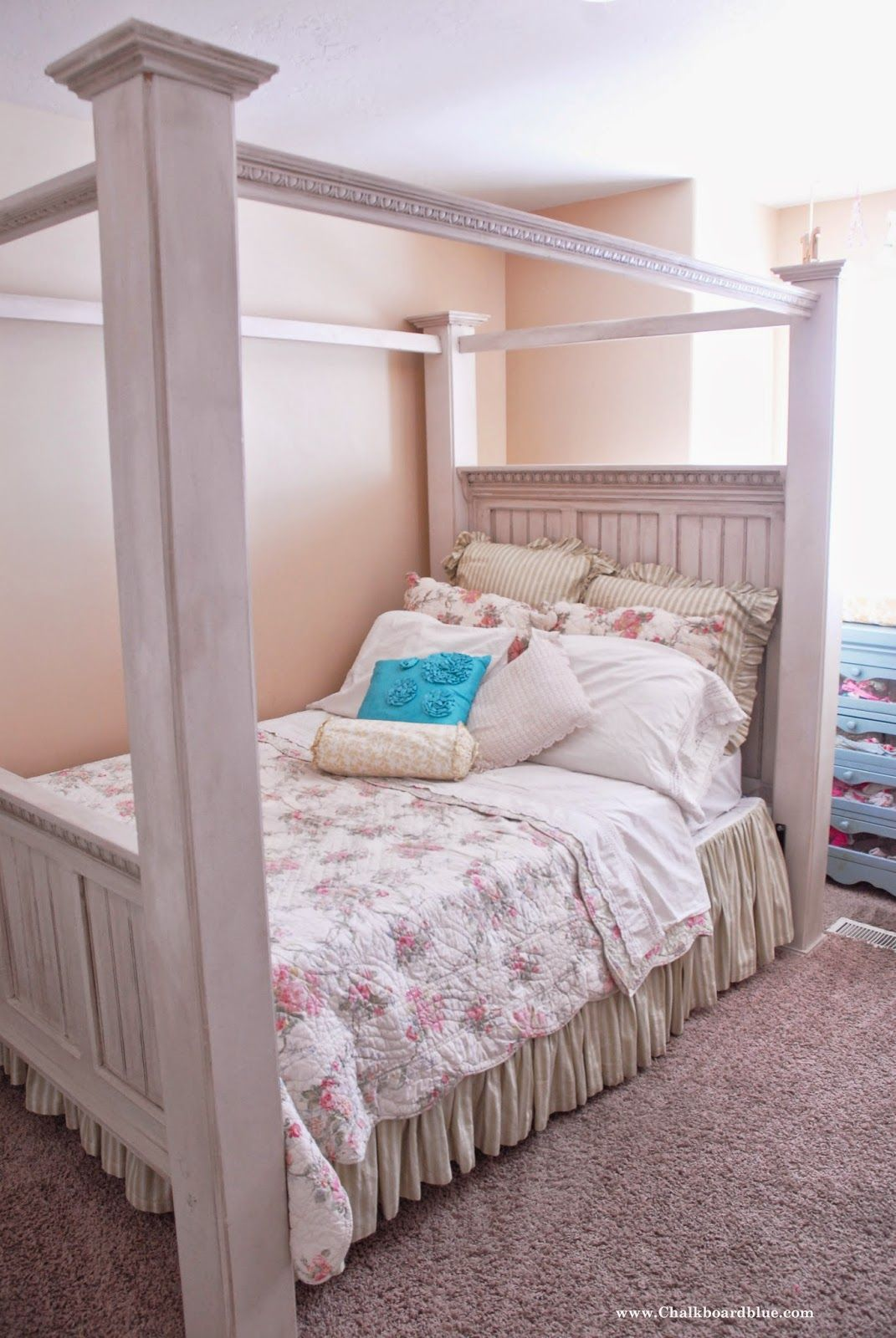 Chalkboard Blue Girls Bed How To Build Tutorial Murphy Bed Plans Murphy Bed Bed