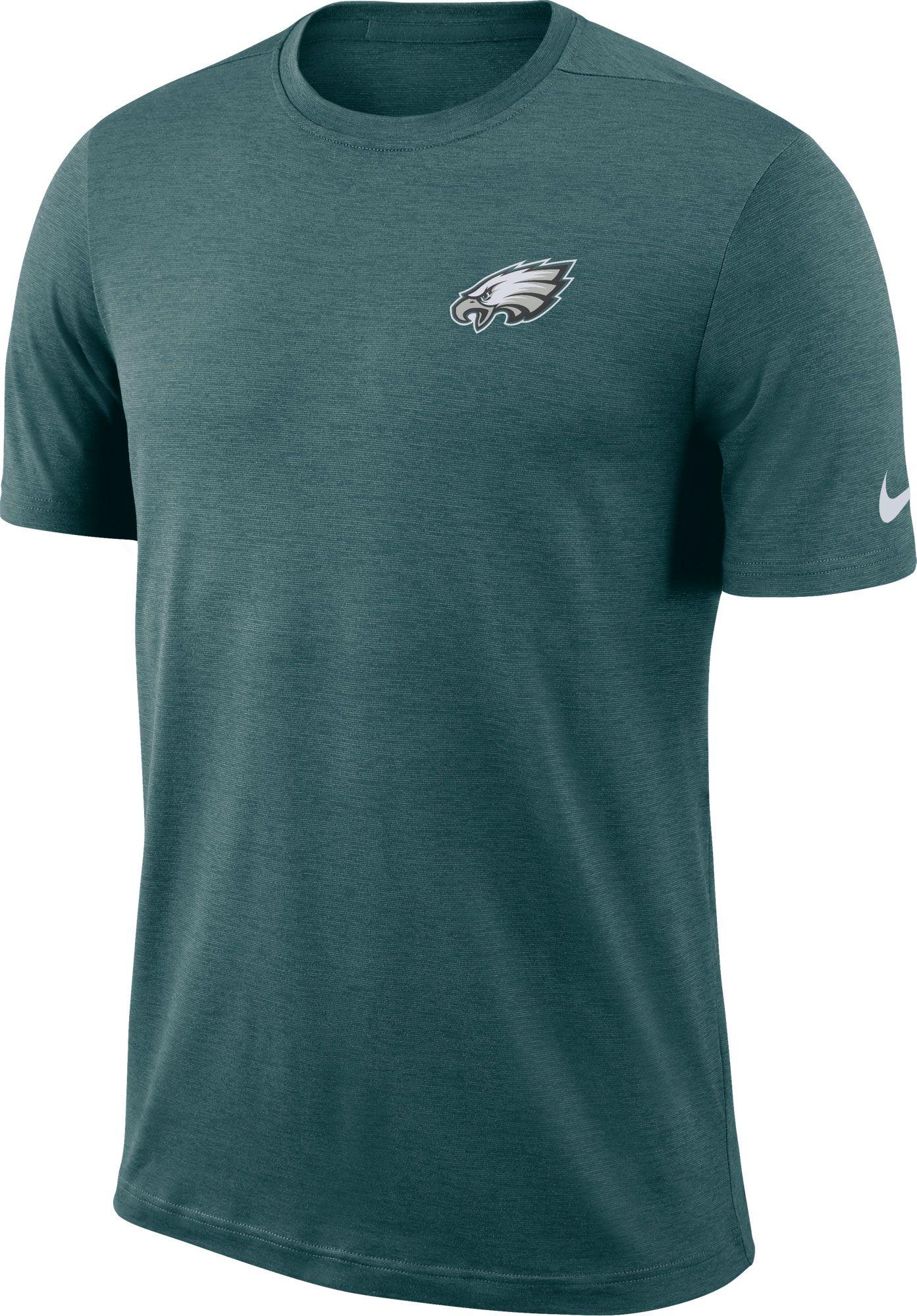 d8f8785660317 Nike Men s Philadelphia Eagles Sideline Coaches Performance Green T ...