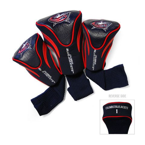 Columbus Blue Jackets 3 Pack Contour Fit Headcover #ColumbusBlueJackets