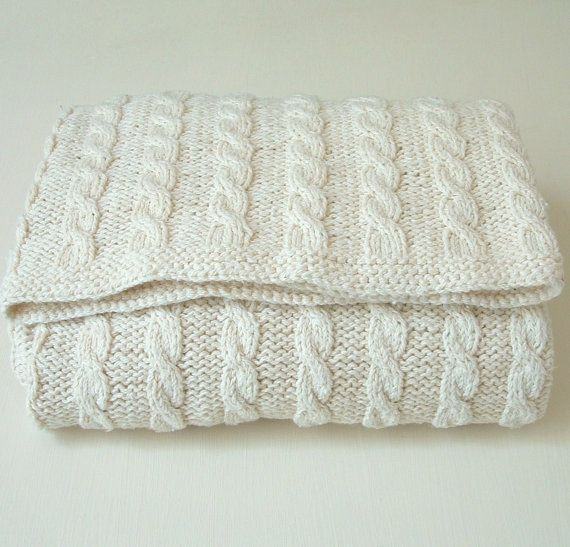 pdf KNITTING PATTERNS baby blanket - classic cable blanket - instant ...