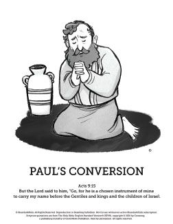 Acts 9 Paul S Conversion Sunday School Coloring Pages The