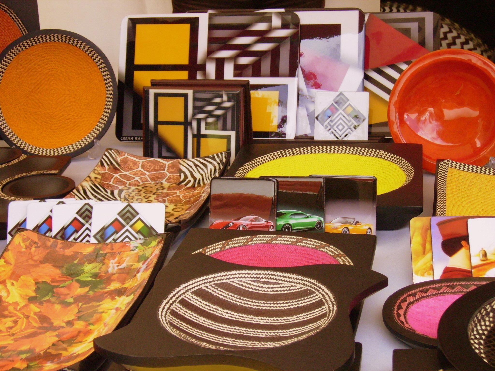 Centros de mesa bandejas tablas de queso servilleteros individuales etc hechos en fibras - Individuales para mesa ...