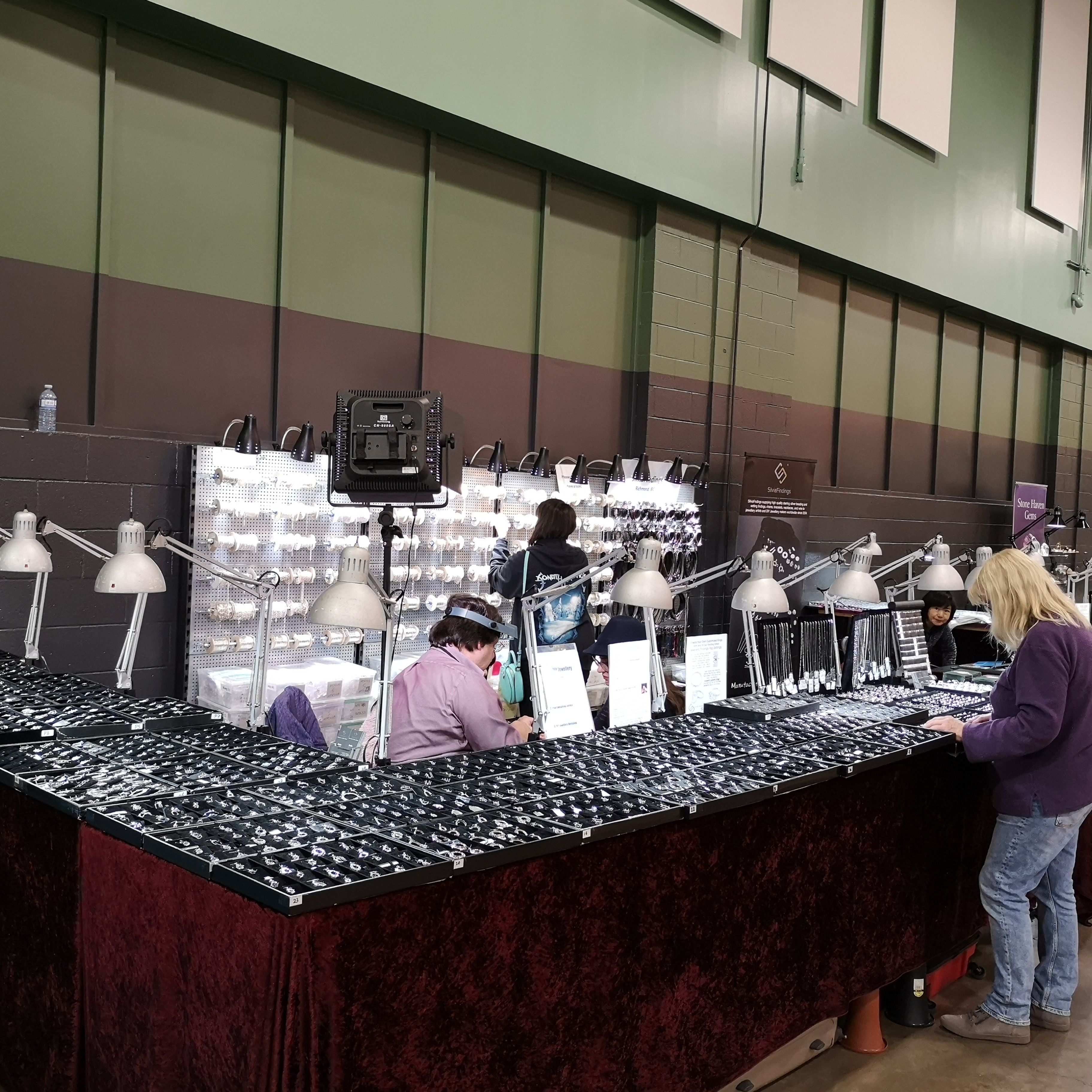 day 1 of the calgary gem show was amazing right up til 9pm last night today doors open at 10am til 6pm stop by our boo gem show jewelry findings trade show
