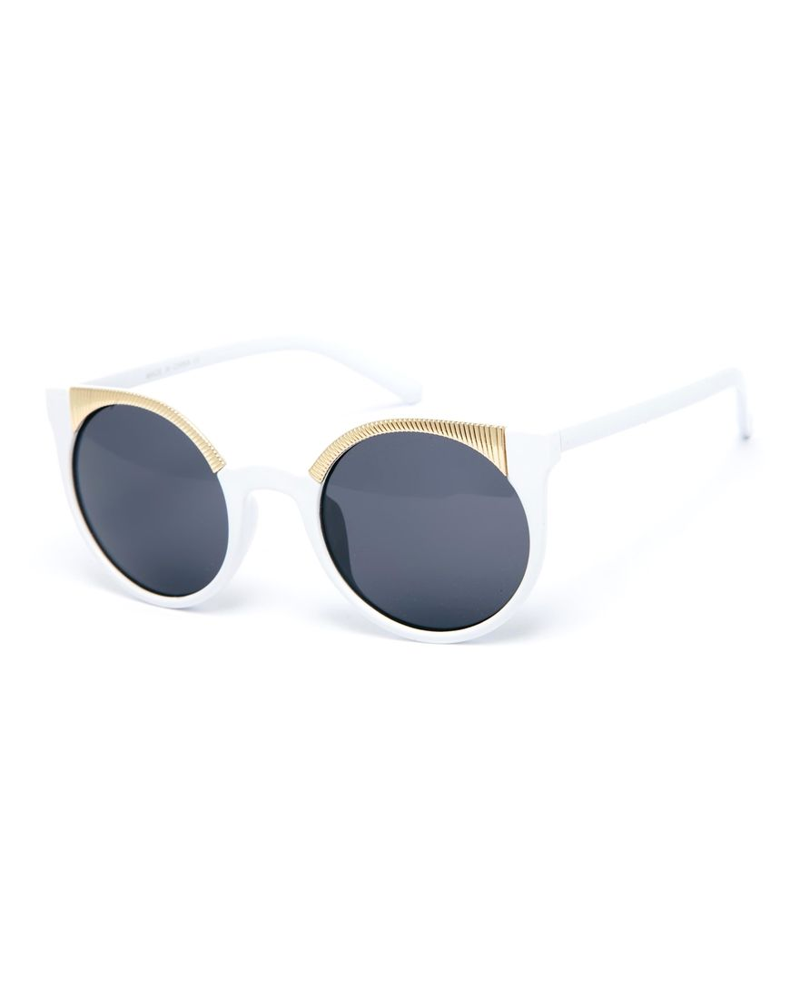 ASOS Ridge Metal Kitten Sunglasses Lunettes De Soleil Yeux De Chat, Oeil De  Chat, eac4527211fc