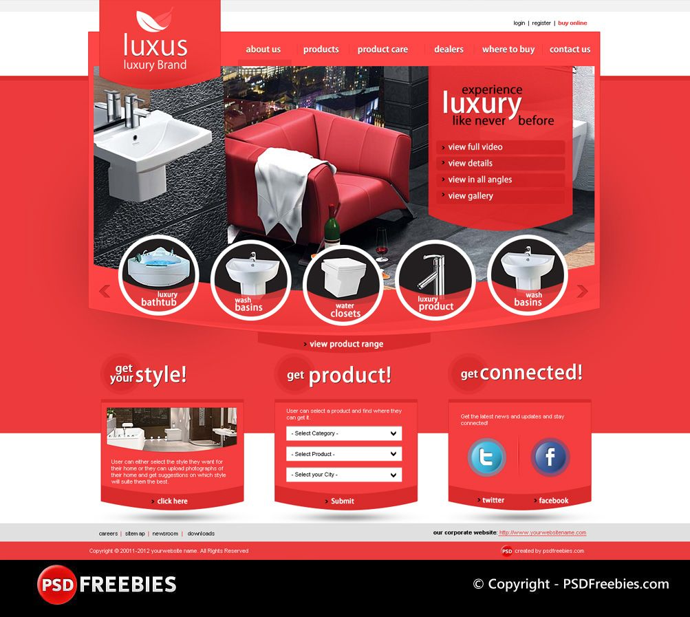 luxus luxury brand psd template is a premium psd template for