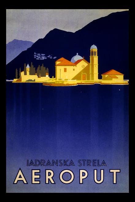 Aeroput Vintage Affiche De Voyage Reiseposter Klassische Reiseposter Plakat