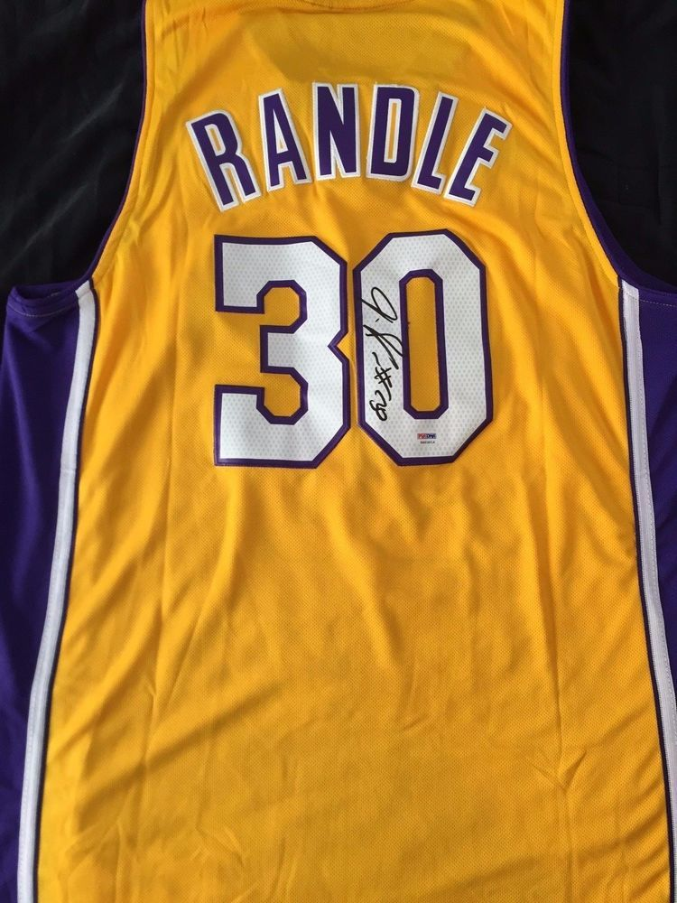 8716eaa0c70 JULIUS RANDLE Autograph Signed Los Angeles Lakers Jersey PSA/DNA COA # LosAngelesLakers