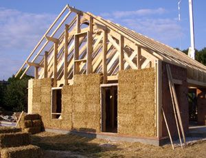 Maison en paille genie civil charpentes a for Construction de maison en paille