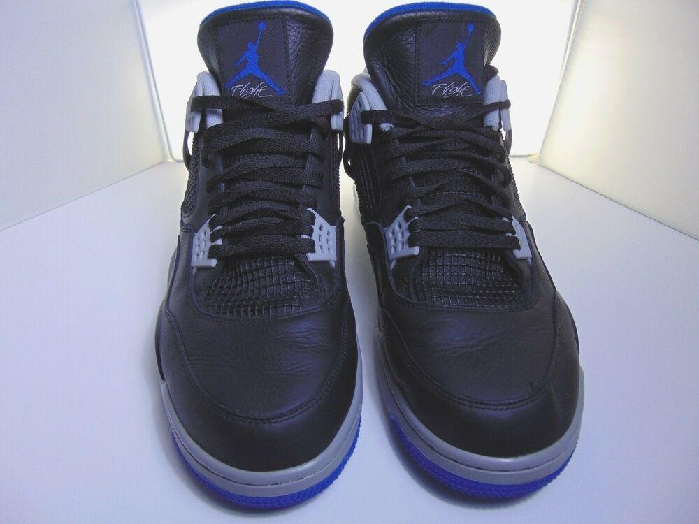 ae3cf8ac116fac Nike Air Jordan 4 IV Retro Alternate Motorsport Black Blue 308497-006 Size  16