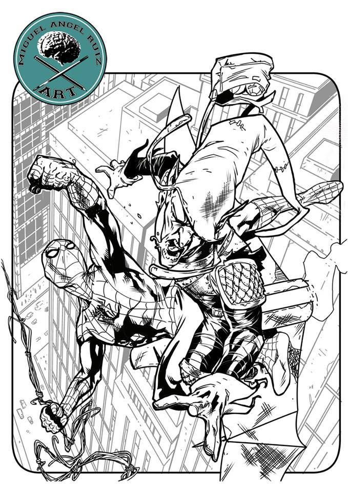 spiderman, green goblin, miguel angel ruiz