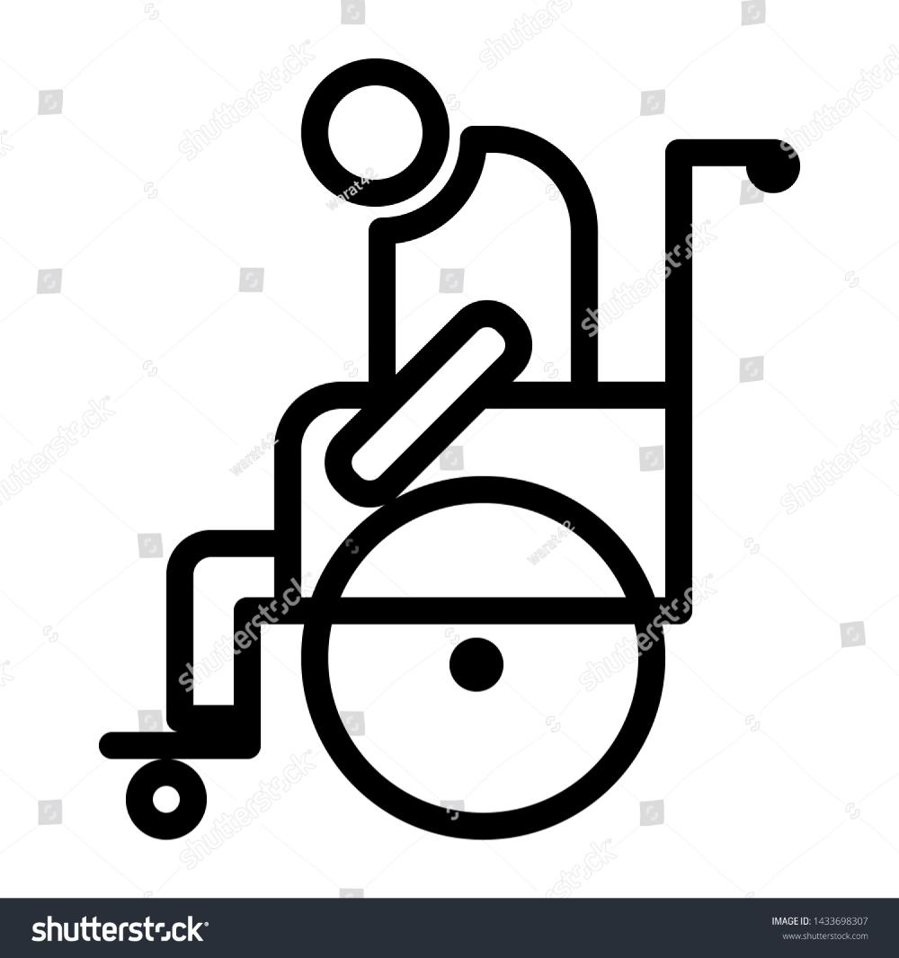 Elderly Icon With Wheelchair Symbol Vector Illustration Vector Illustration Icon Illustration