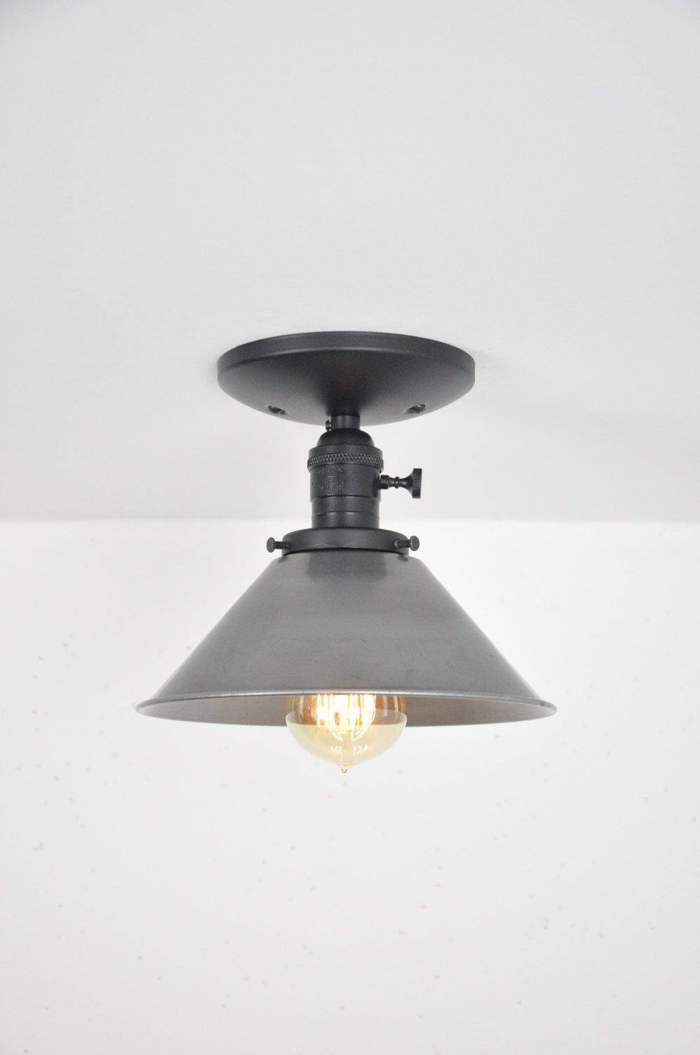 8 inch unfinished steel ceiling light by wiresnjars on etsy https www