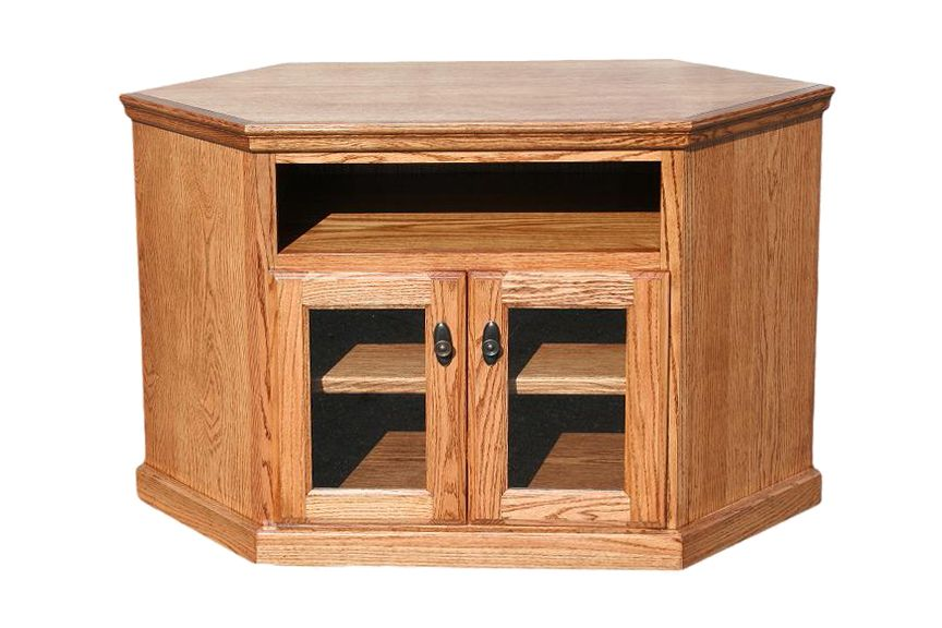 "OD O T244 Traditional Oak 46"" Corner TV Stand"
