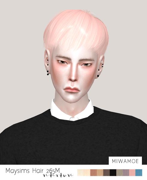 Short Male Hair Retexture For The Sims 4 Mens Hairstyles Sims Hair Sims 4