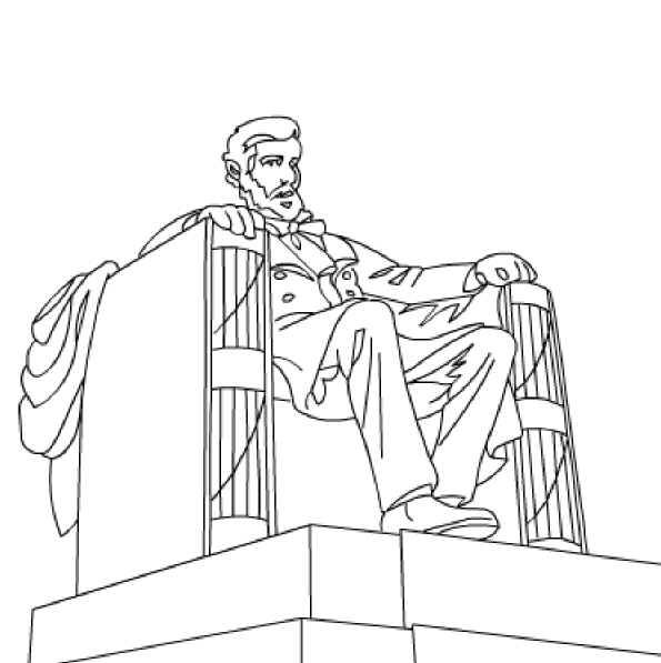 Lincoln Monument Free Printable Coloring And Activity Pages