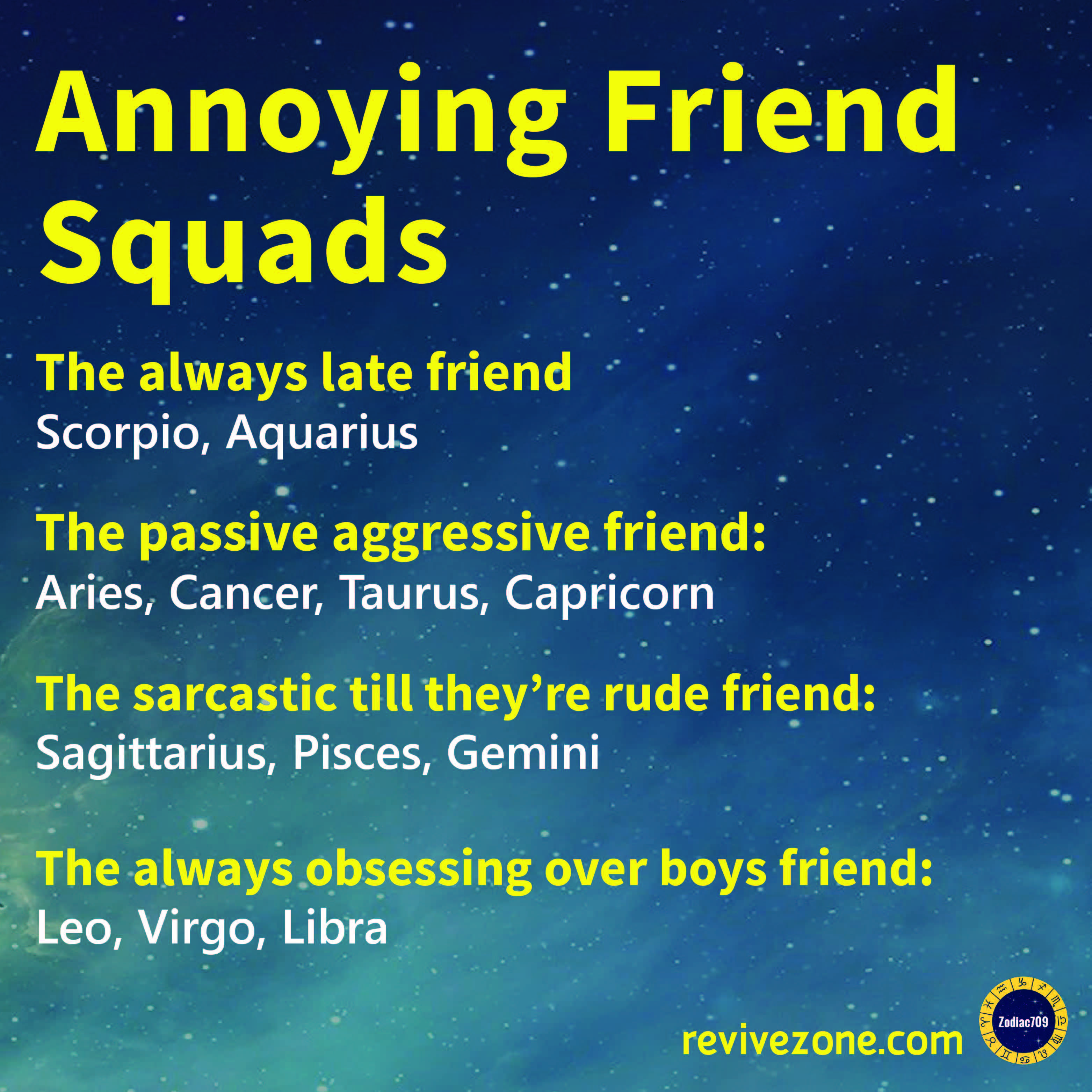 Libra Traits Annoying Friend Squads Zodiac Signs Aries Taurus