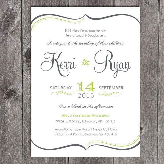 Diy printable wedding invitation and printable rsvp card script diy printable wedding invitation and printable rsvp card script type and swirl border solutioingenieria Gallery