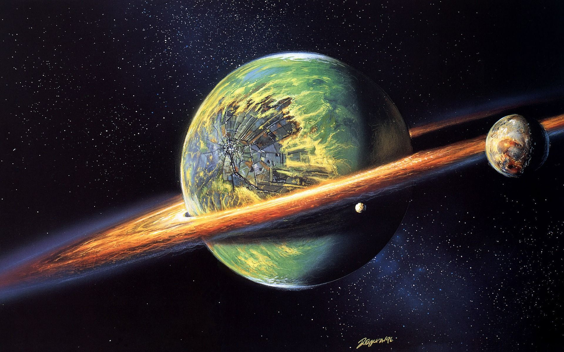 Space Cool Planet Picture Retro Wallpaper Planets Wallpaper