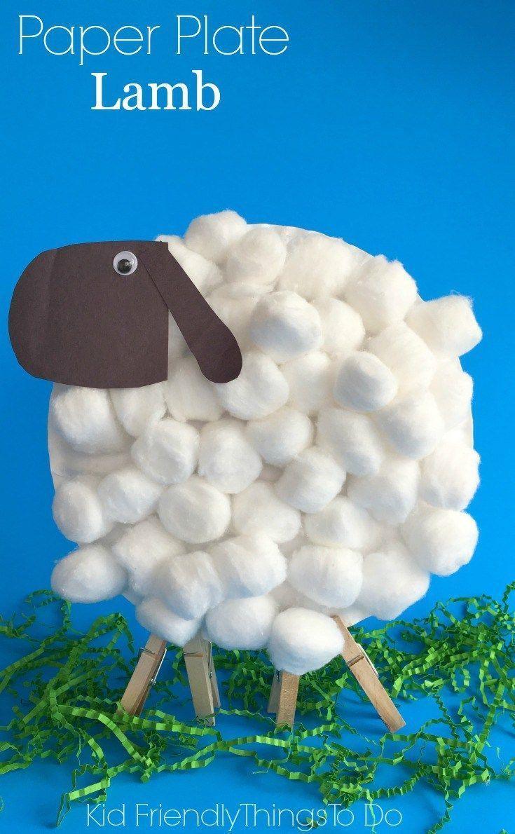 Easy paper plate lamb craft for kids lamb craft lambs and craft easy paper plate lamb craft for kids jeuxipadfo Images