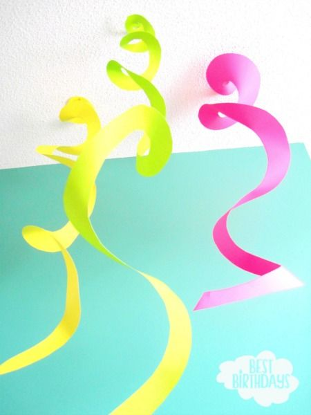 Easy Party Decorations made from a sheet of paper Best Birthdays