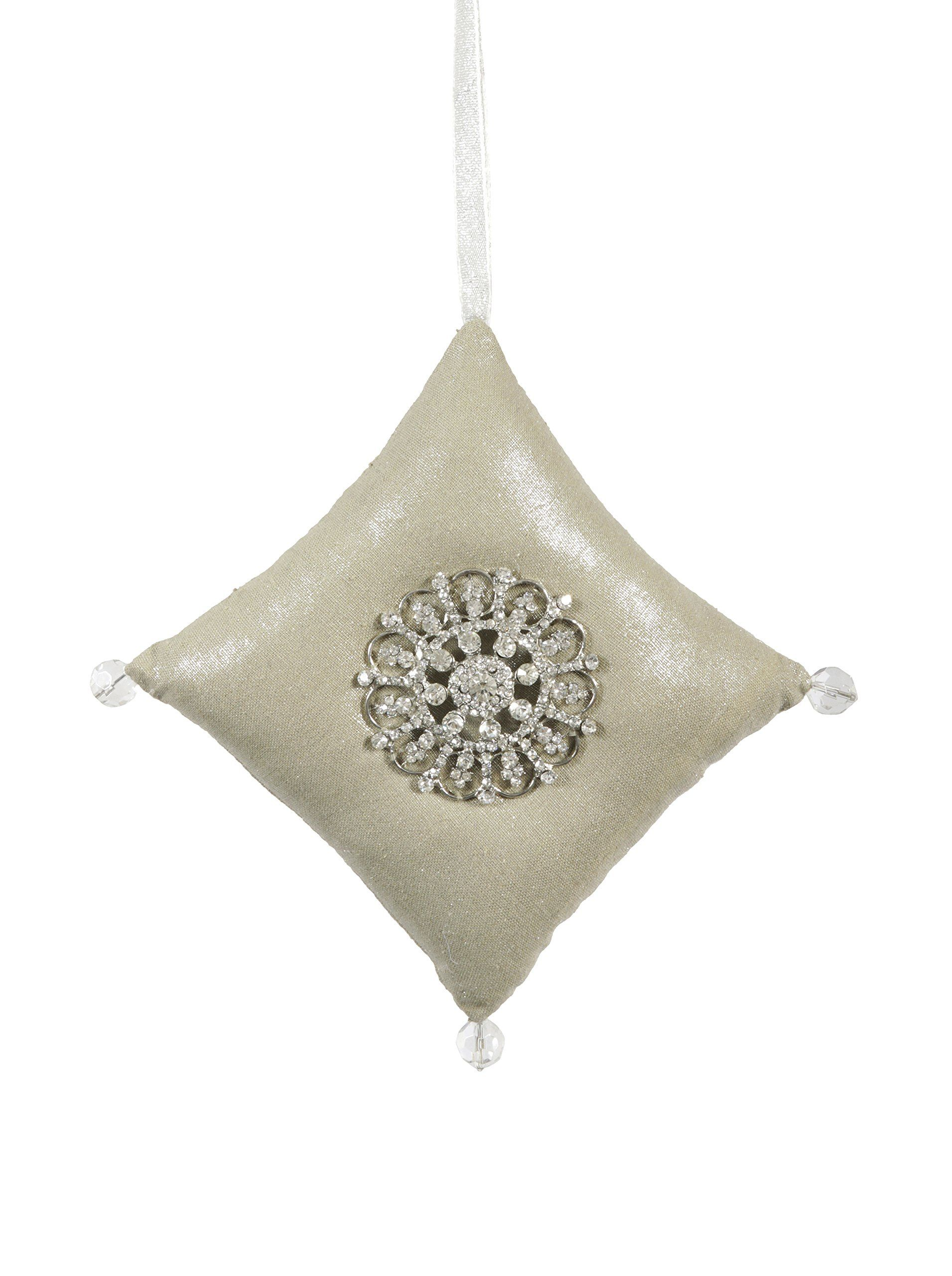 Winward Handcrafted Gatsby Jewel Pillow Ornament, Champagne Silver at MYHABIT