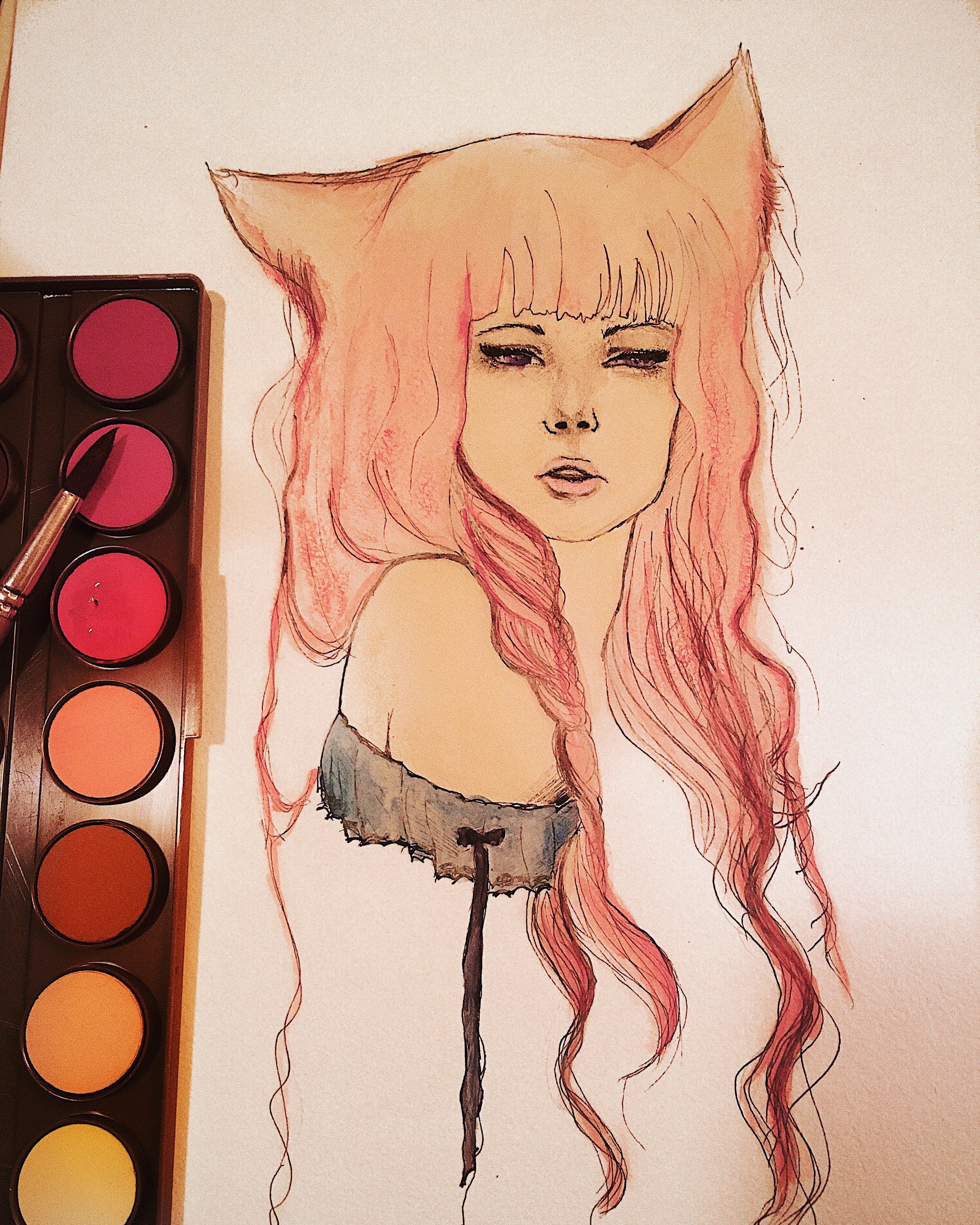 Anime painting girl anime painting pinterest anime and paintings