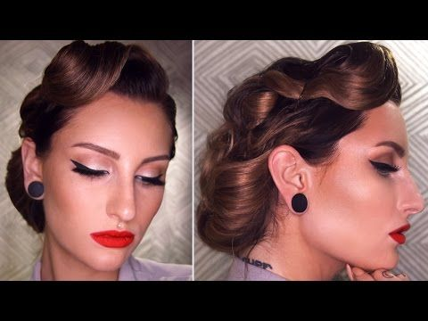 Easy 50 S Inspired Vintage Updo Hairstyle Tutorial Vintage Hairstyles Tutorial Updo Hairstyles Tutorials Vintage Hairstyles For Long Hair