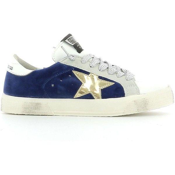 Blue and White Velvet Superstar Sneakers Golden Goose rk1cMgd