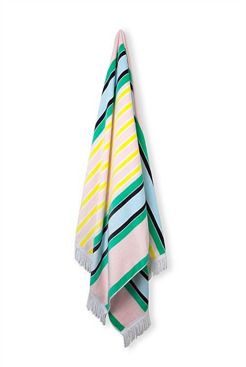 Sacramento Beach Towel Beach Towel Towel Stripes Design