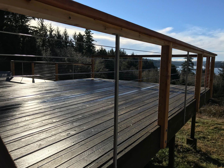 Cabin Railing In 2020 Deck Railing Kits Cable Railing Deck Deck Railing Diy