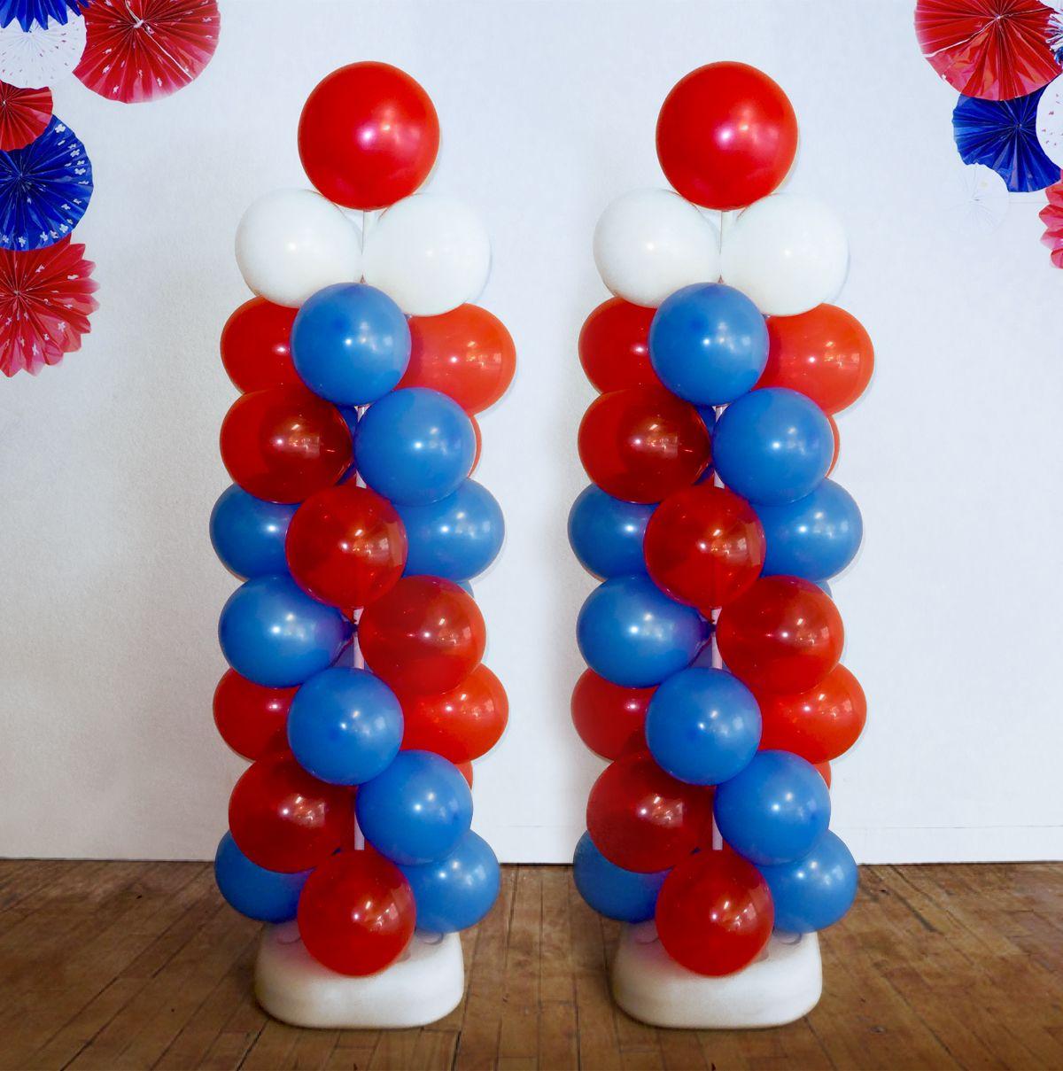 Balloon Column - Single Spiral - 2 Colors