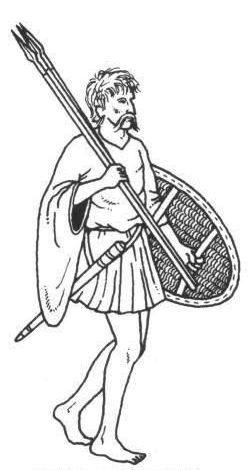 Irish Kern, with Javelines (Darts)