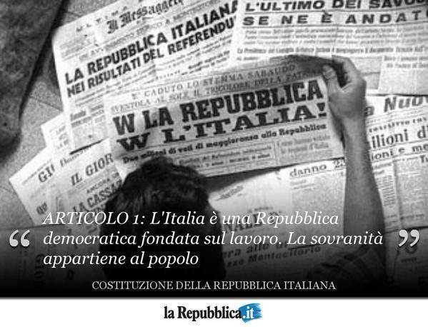 2 giugno 1946 - Il referendum costituzionale sancisce la fine della monarchia e la nascita della Repubblica Italiana