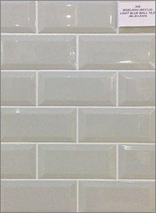 Biselado Bevelled Light Blue Ceramic Backsplash Wall Tiles