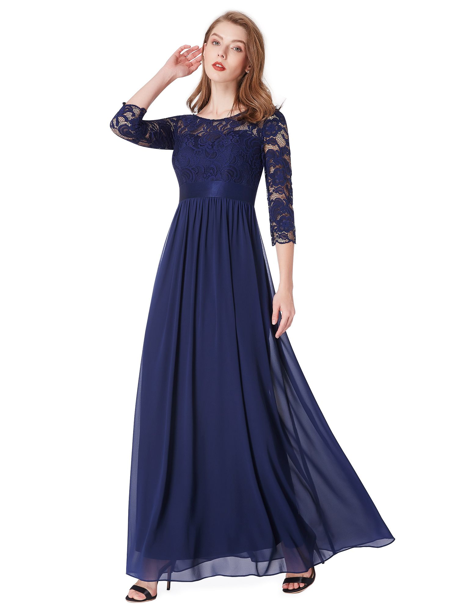 Ever Pretty Ever Pretty Women S Lace Patchwork A Line Maxi Mother Of The Brides Dresses For Women 07412 Navy Blue Us26 Walmart Com Long Sleeve Dress Formal Long Navy Blue Bridesmaid Dresses Maxi [ 2000 x 1500 Pixel ]