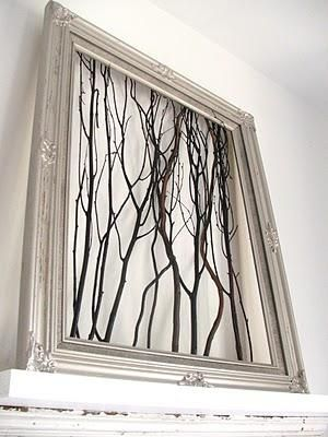 Diy Framed Tree Branch Wall Art Diy Wood Crafts Recycle Diy Wood ...