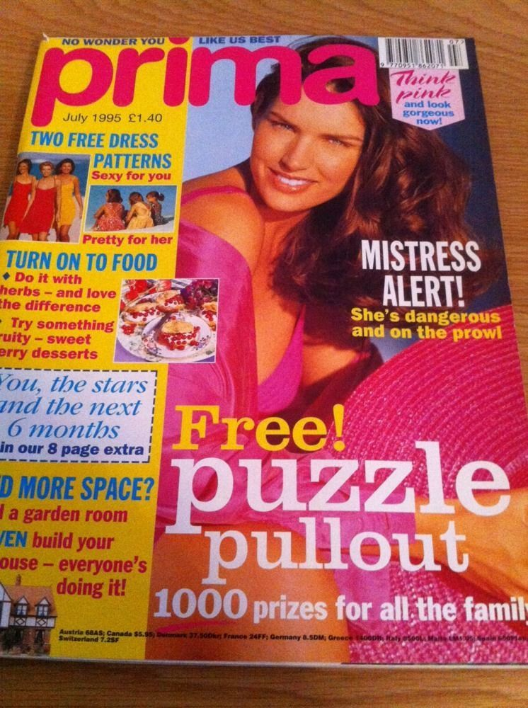 Prima Magazine Knitting Patterns Plus Sewing Projects Nice