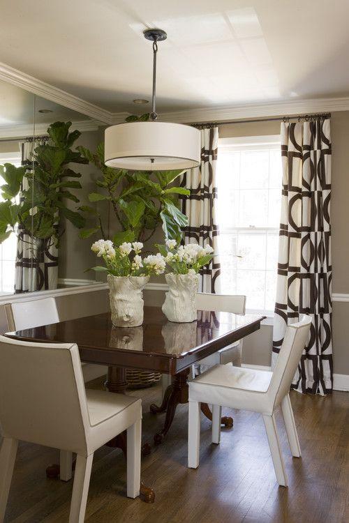 Attirant Modern Curtain · Dining Room ...