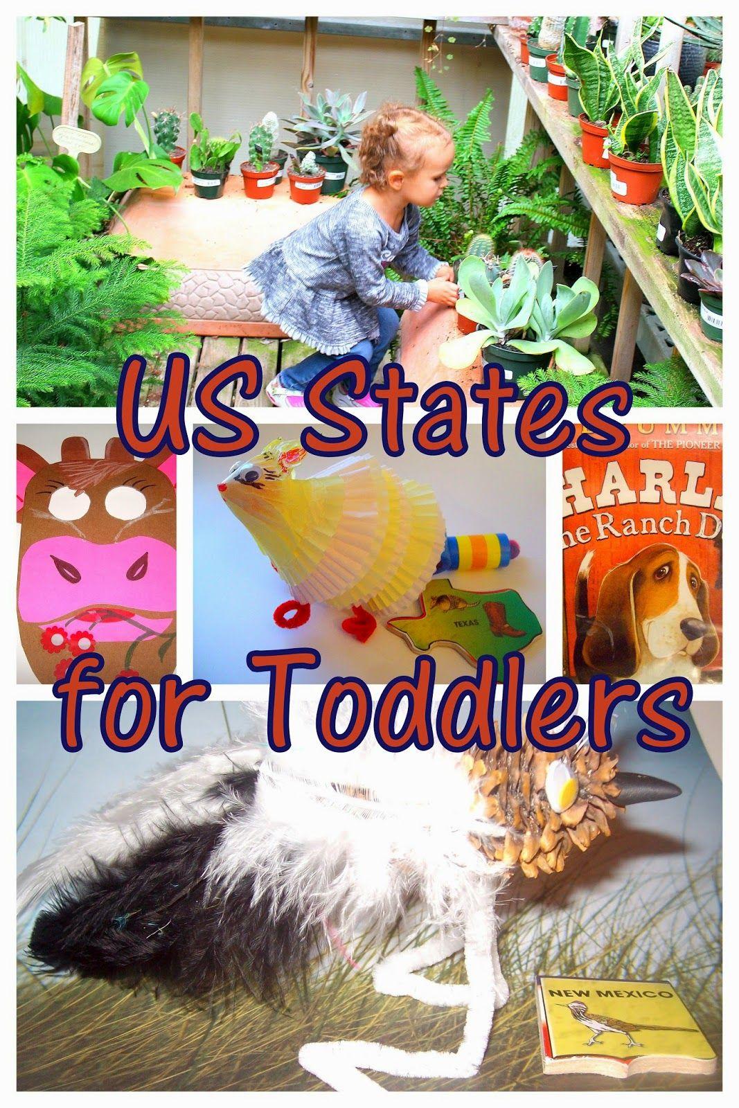 Us Geography Preschool Activities The Wild West