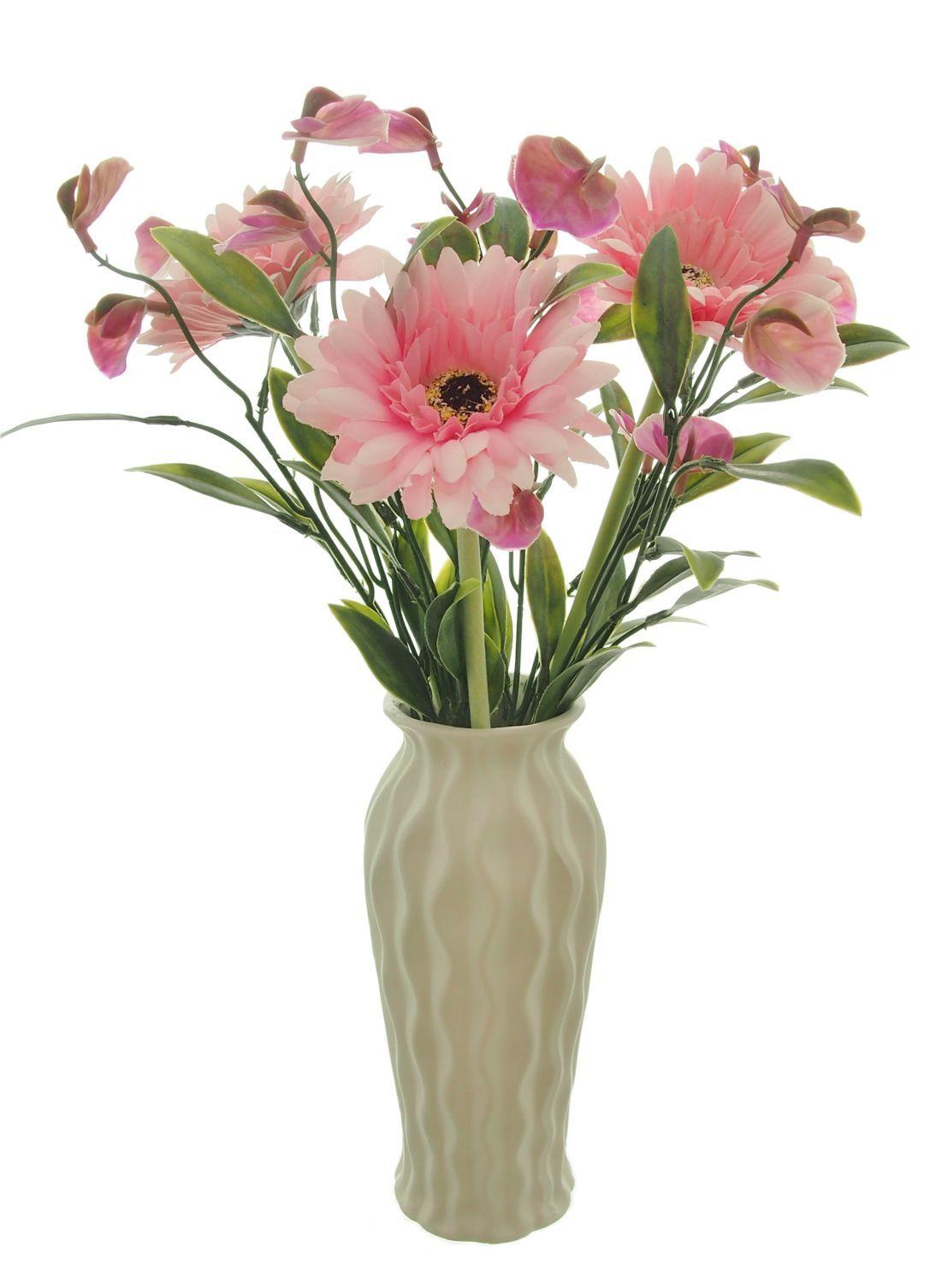 Our Gerbera Meadow Arrangement Silkflowers Vase Arrangement