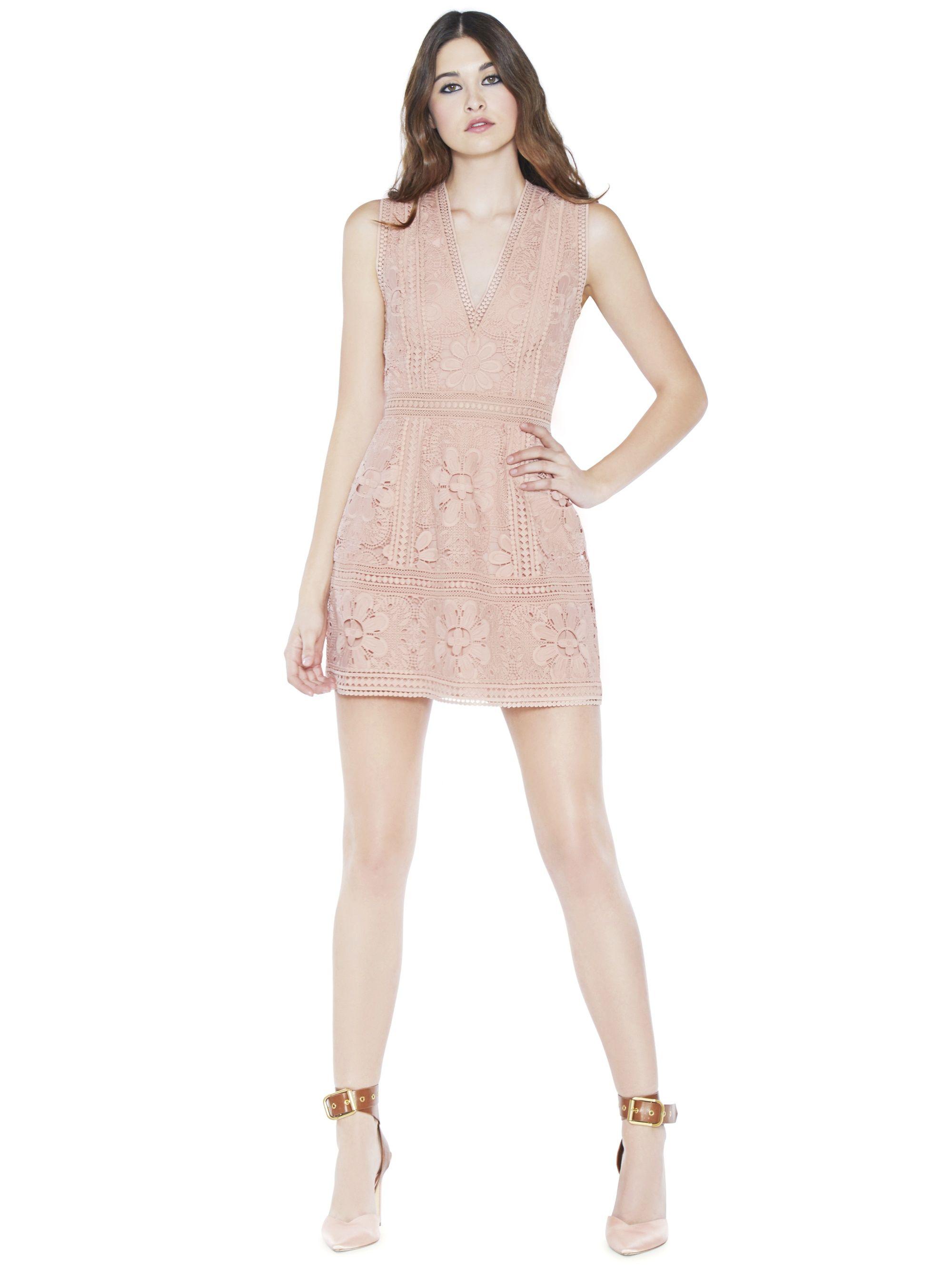 5c659fc4f58d ZULA LACE COMBO V-NECK PARTY DRESS by Alice + Olivia | Fashion DOs ...