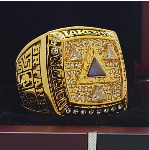 2002 Los Angeles Lakers National Bakstball Championship Ring 10 Size Kobe Name Los Angeles Lakers Nba Championship Rings Championship Rings